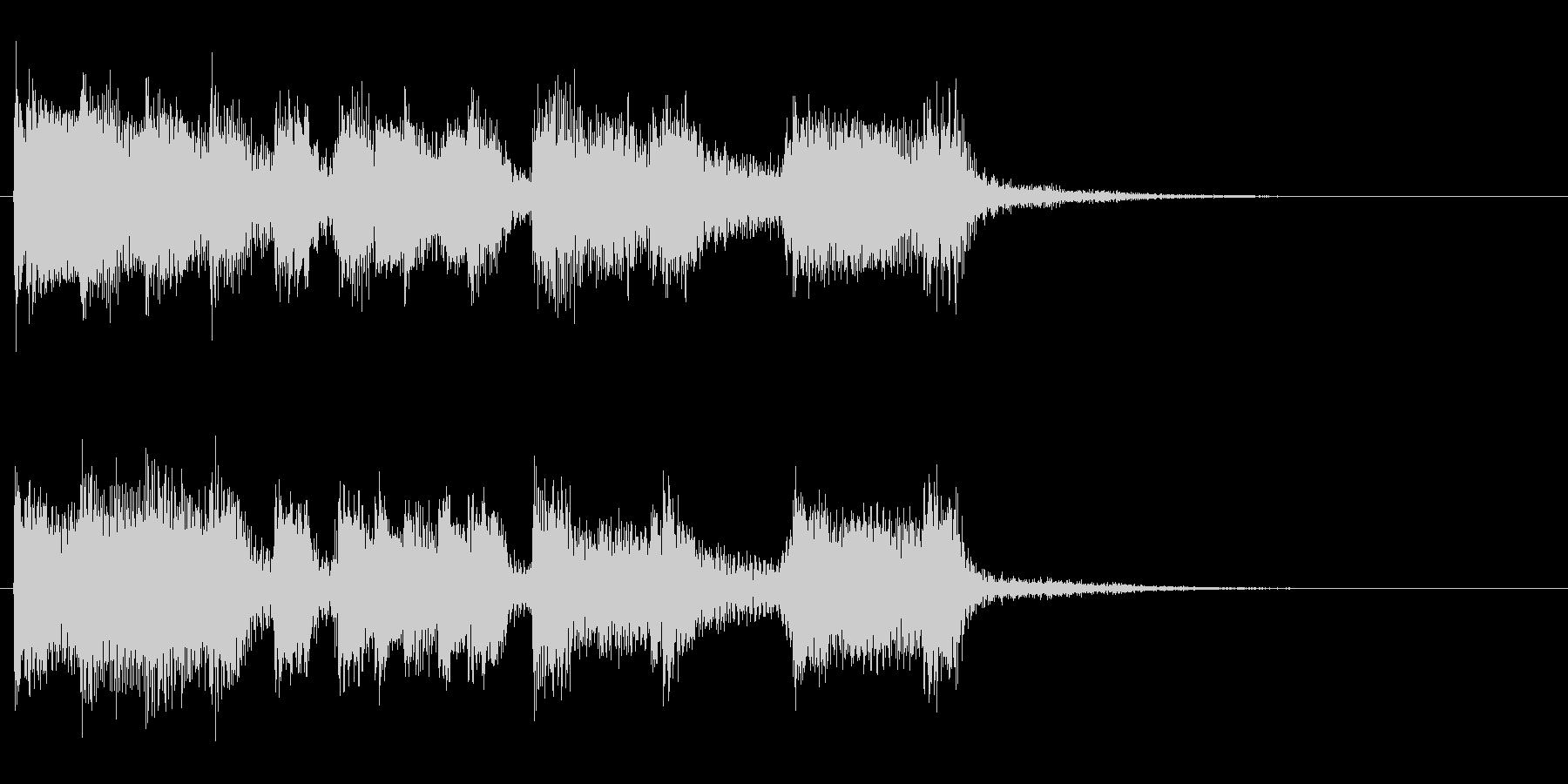 お茶目なピアノのキュートなジングルの未再生の波形