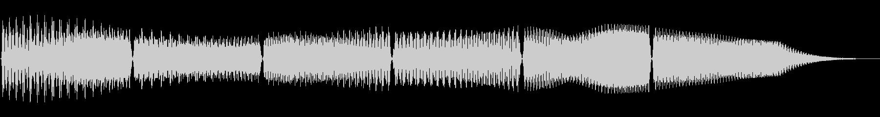 スワイプやゲームの操作時用のコミカルな音の未再生の波形