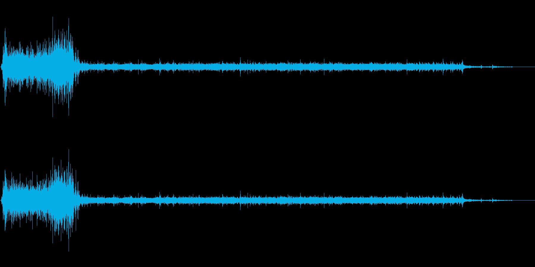 [生録音]水洗トイレを流す01の再生済みの波形