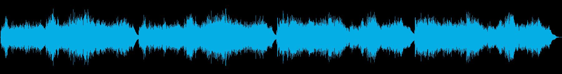 ピアノの可愛らしい曲の再生済みの波形