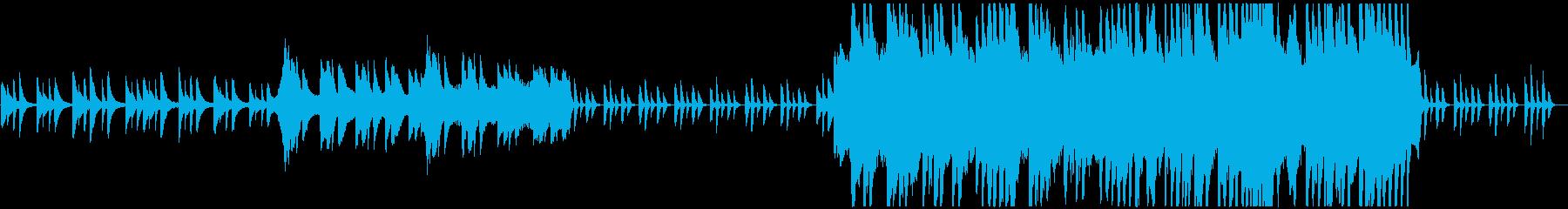 秋をイメージした和風ピアノBGMの再生済みの波形