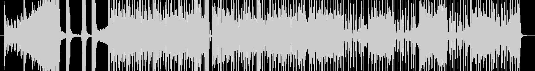 盛り上がるジャズファンクの未再生の波形