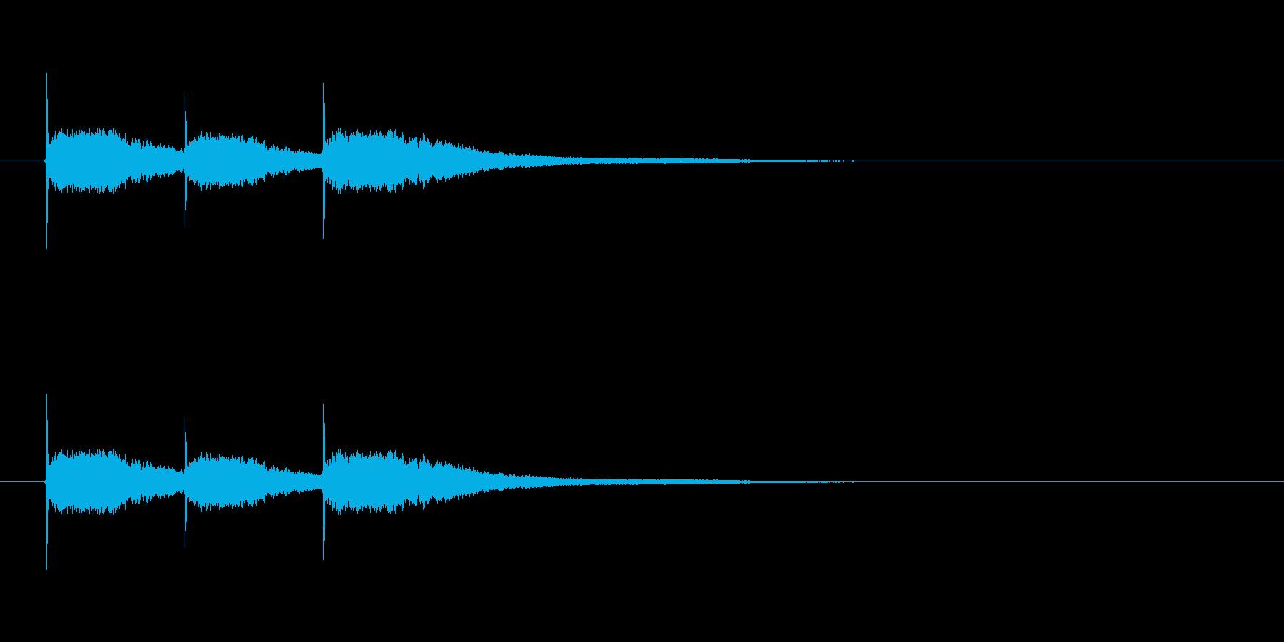 【競技用ゴング01-3】の再生済みの波形
