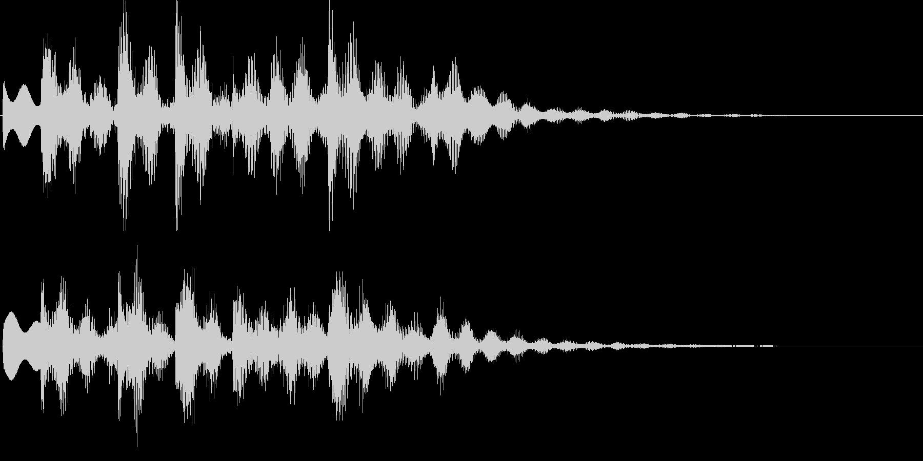 ゲームオーバーに最適なジングルの未再生の波形