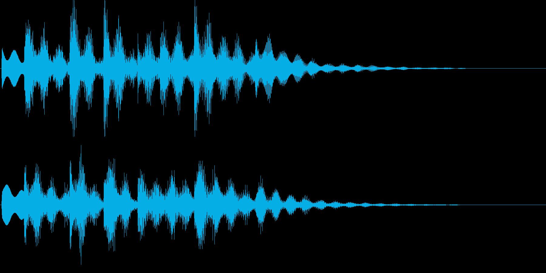 ゲームオーバーに最適なジングルの再生済みの波形