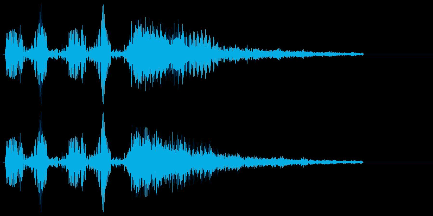 DJスクラッチ+ジャン!!の再生済みの波形