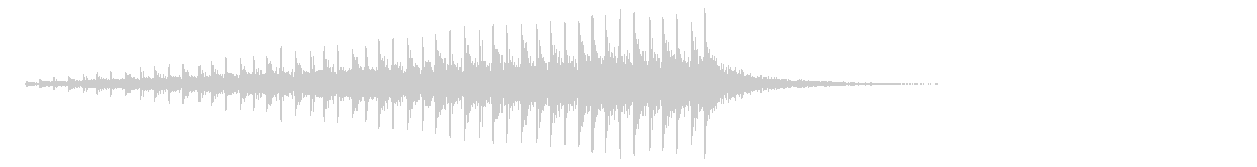 パーカッション-ドラムロールの未再生の波形