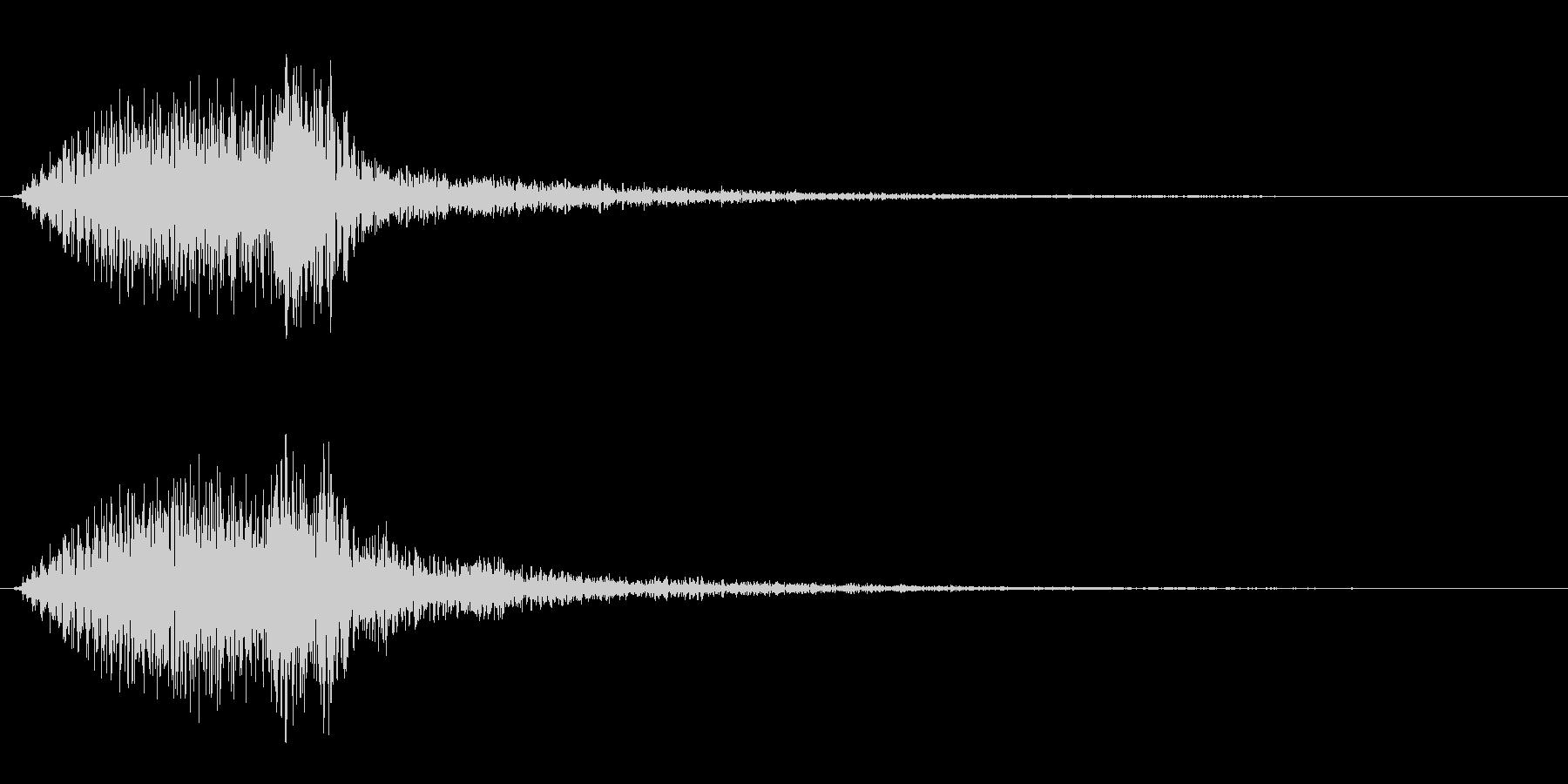 ビュウン、という近代的な電子音の未再生の波形