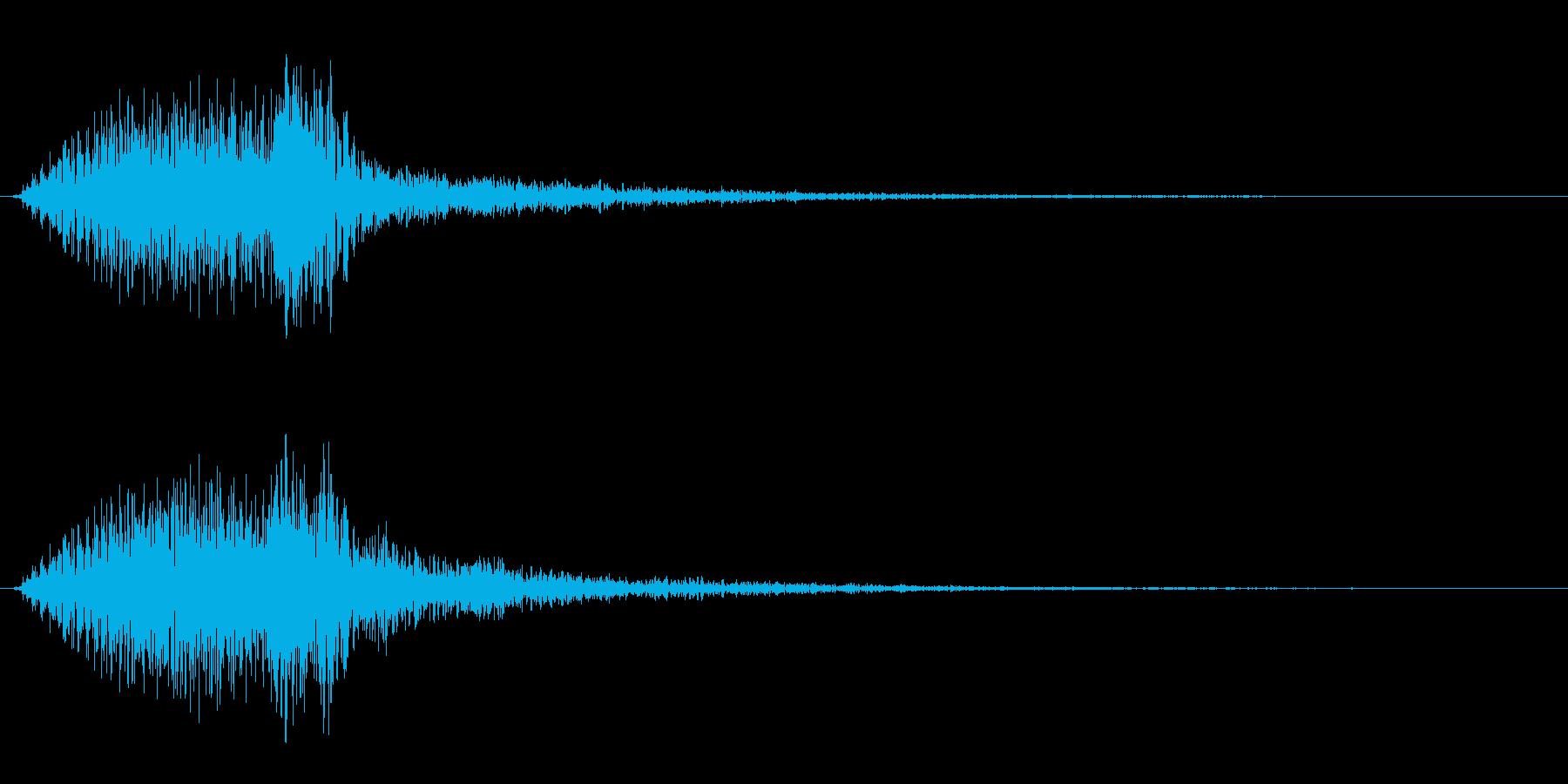 ビュウン、という近代的な電子音の再生済みの波形
