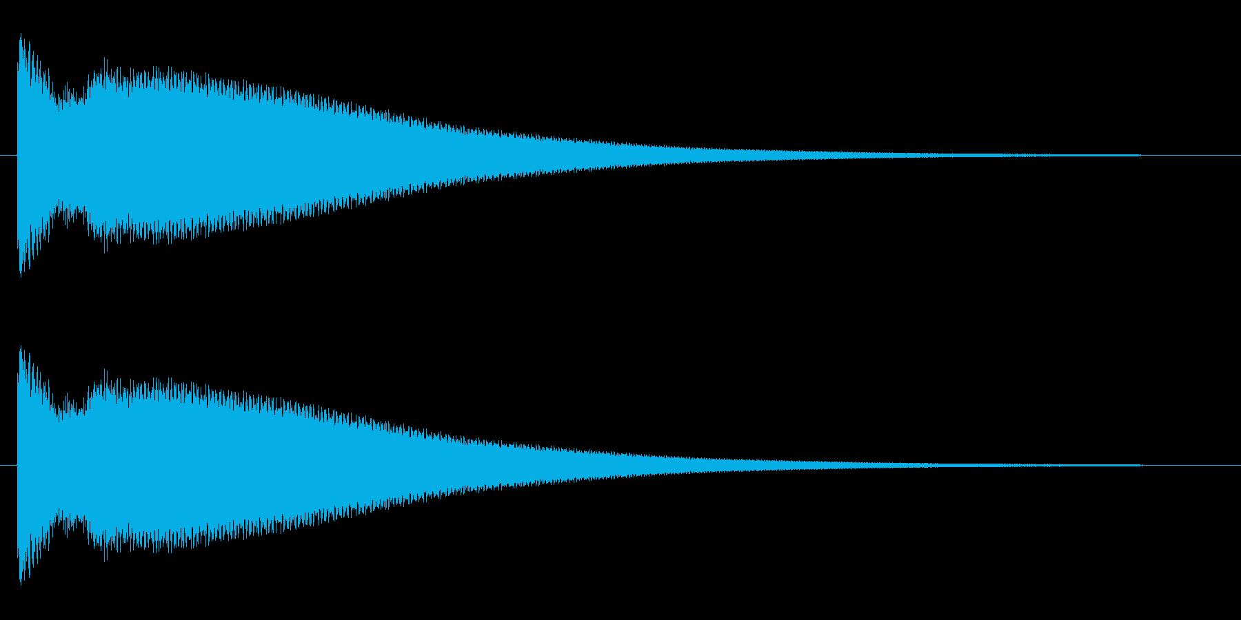 チーンというクリアな音の再生済みの波形