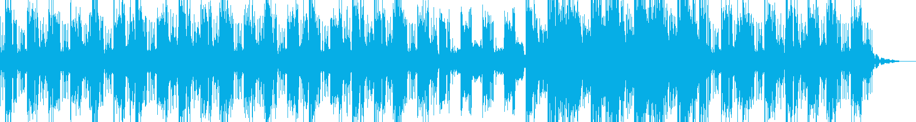 潜入捜査感のある怪しいビートの再生済みの波形