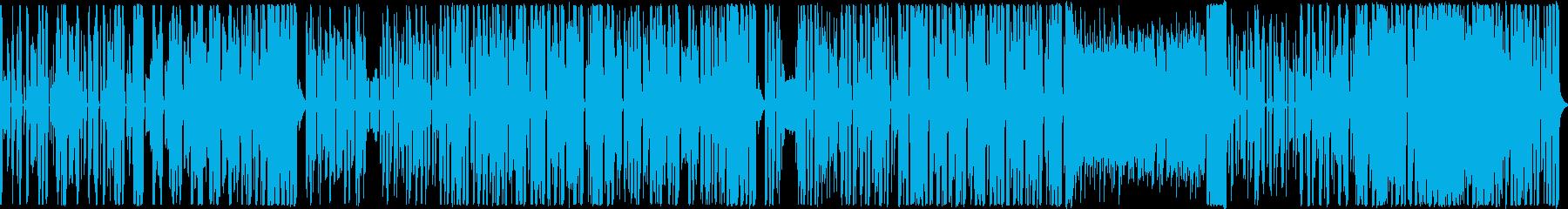 楽しいイメージのシンセポップ ループ可の再生済みの波形