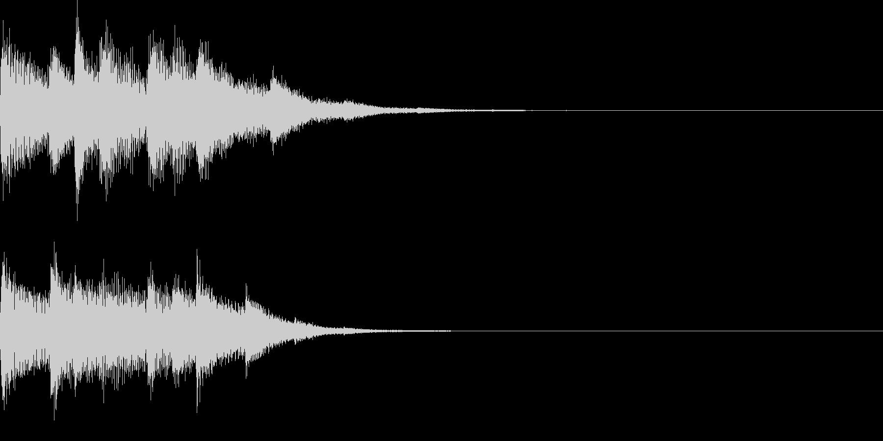 チャンチャララ/ピアノ/回復/クリアの未再生の波形
