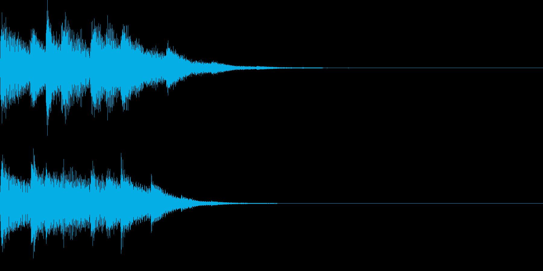 チャンチャララ/ピアノ/回復/クリアの再生済みの波形