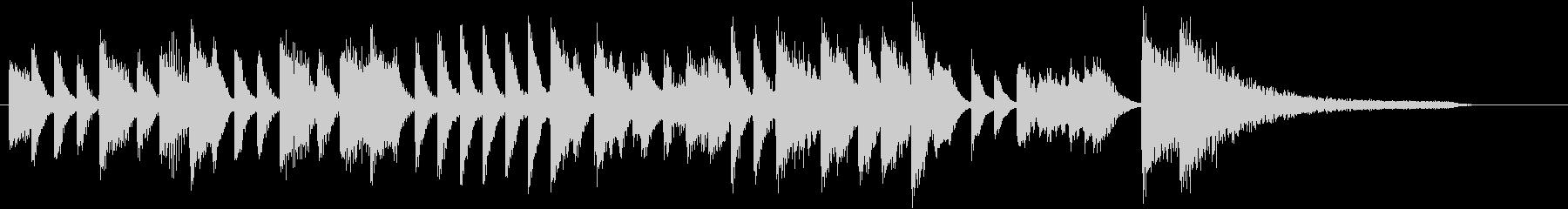 ジングルベルモチーフのピアノジングルEの未再生の波形