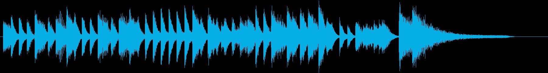 ジングルベルモチーフのピアノジングルEの再生済みの波形