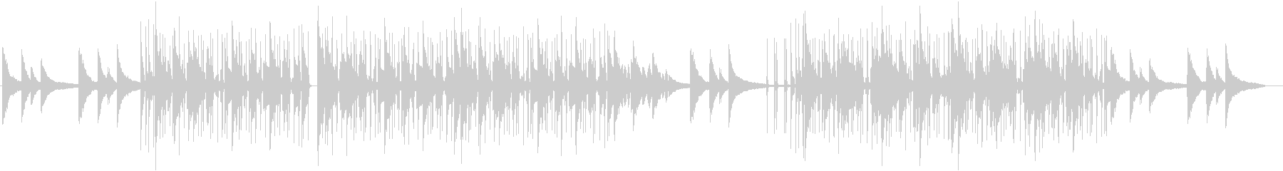 ピアノがお洒落なLoFiHiphopの未再生の波形