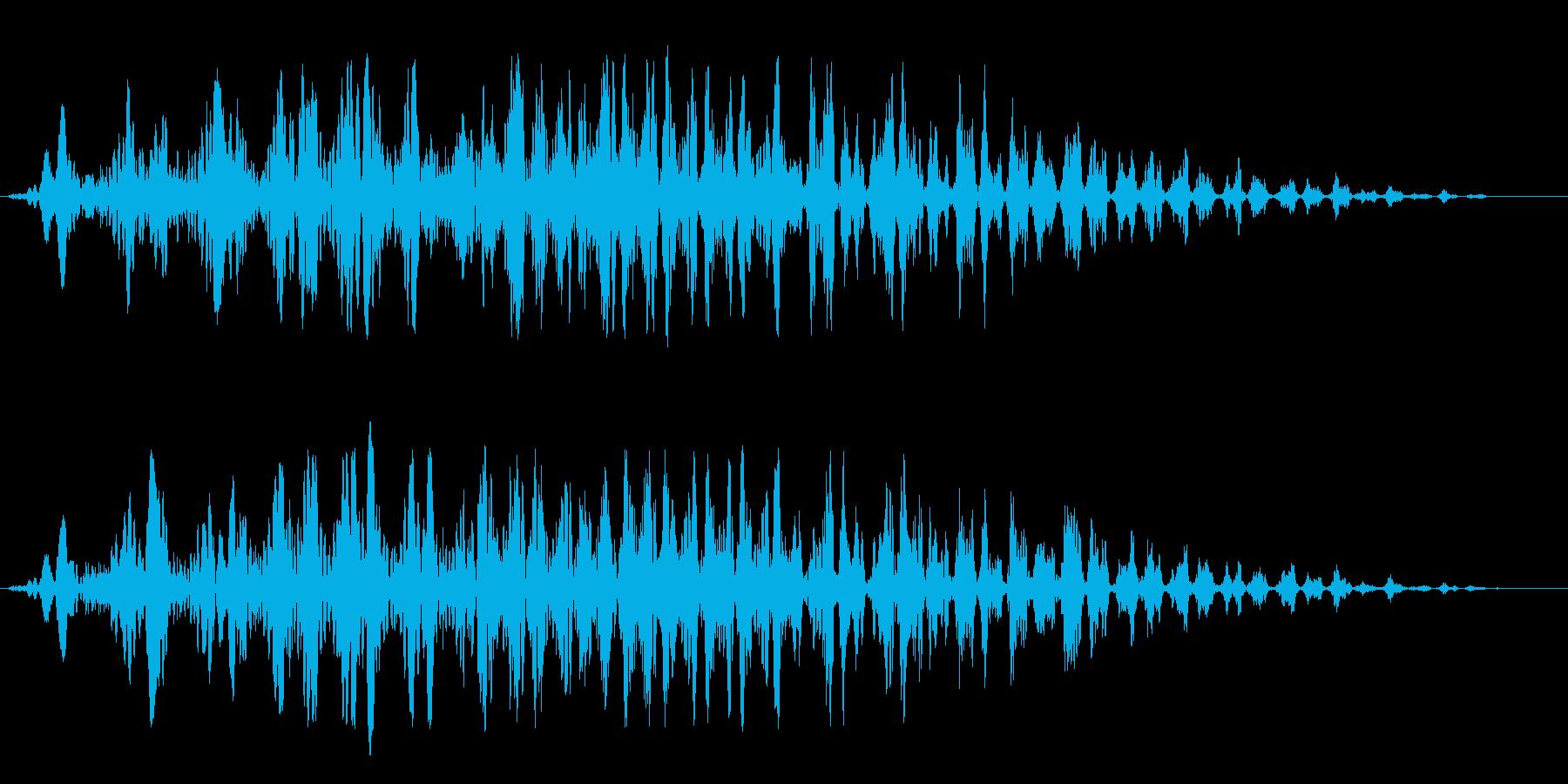 コミカル飛行音(アップ)の再生済みの波形