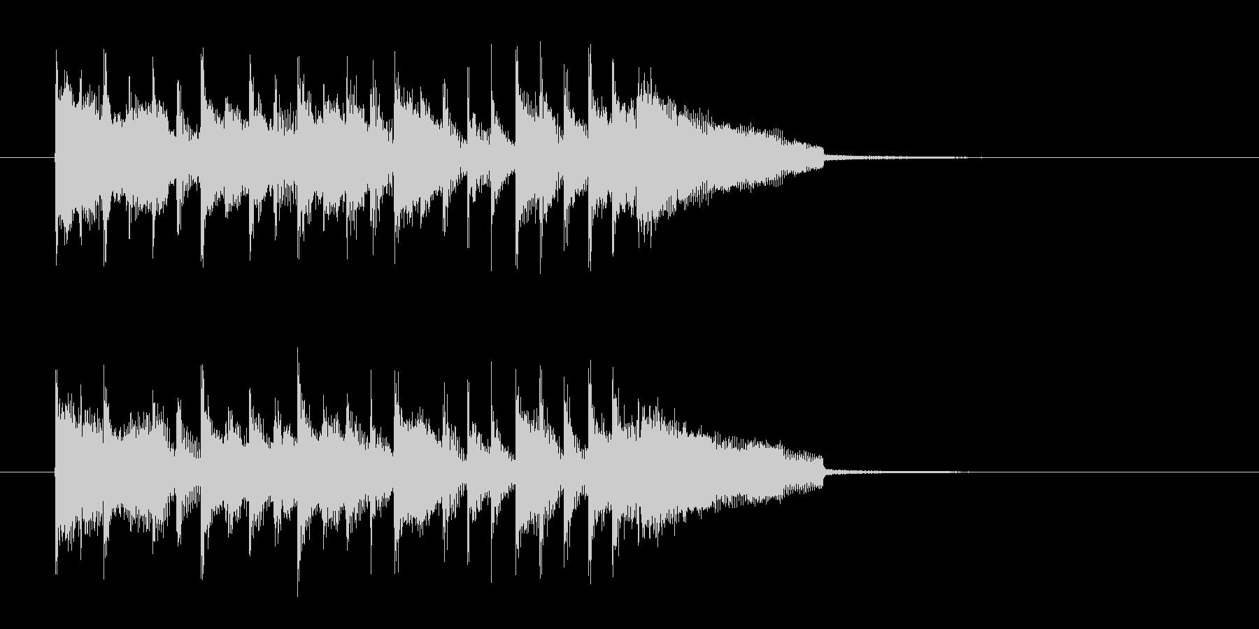 キャッチ―でロックなエレキジングルの未再生の波形