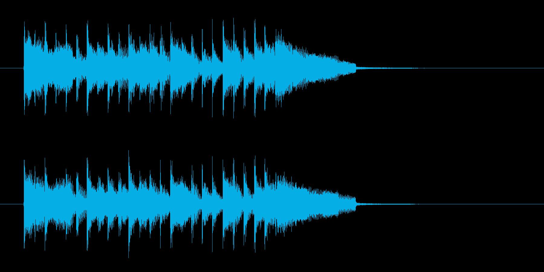 キャッチ―でロックなエレキジングルの再生済みの波形