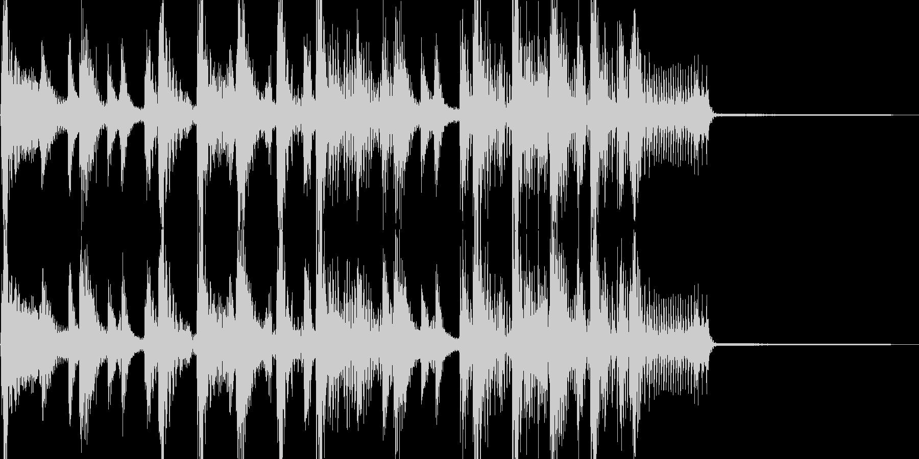 大坂おばちゃんのファンキーなジングルの未再生の波形
