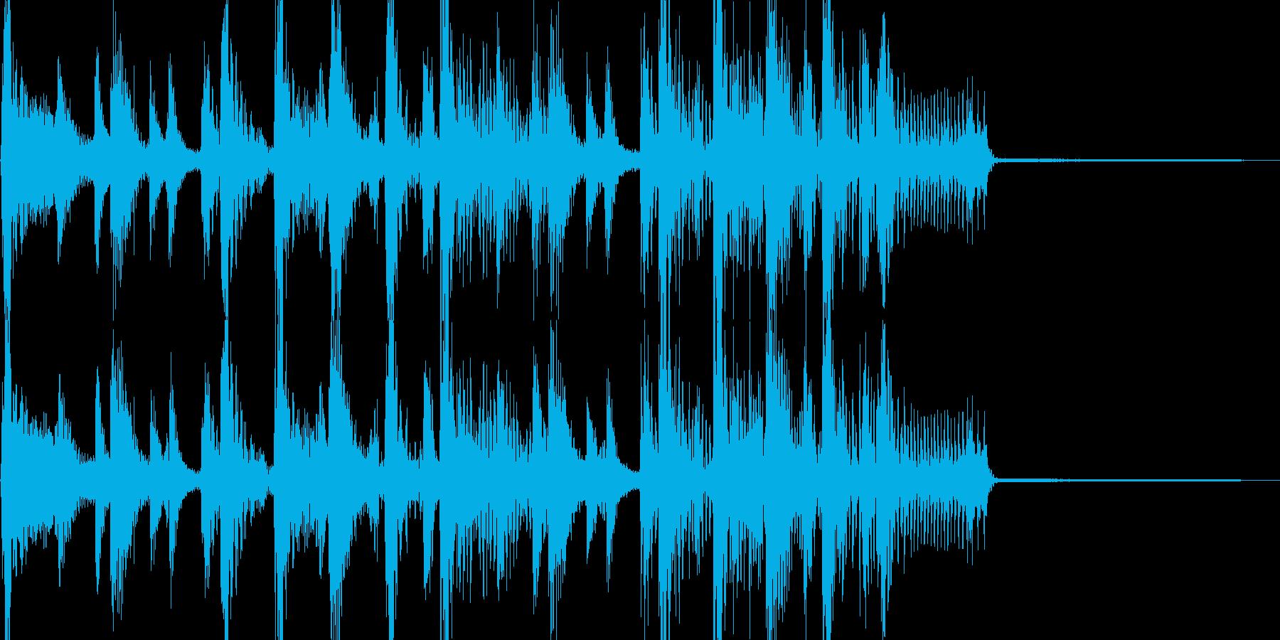 大坂おばちゃんのファンキーなジングルの再生済みの波形