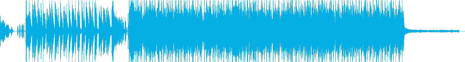 疾走感あるおしゃれな曲の再生済みの波形