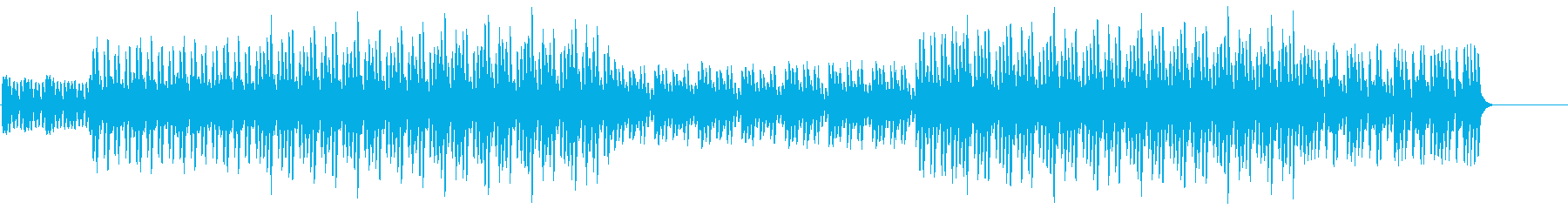 マリンバのみのプレーンなBGMの再生済みの波形