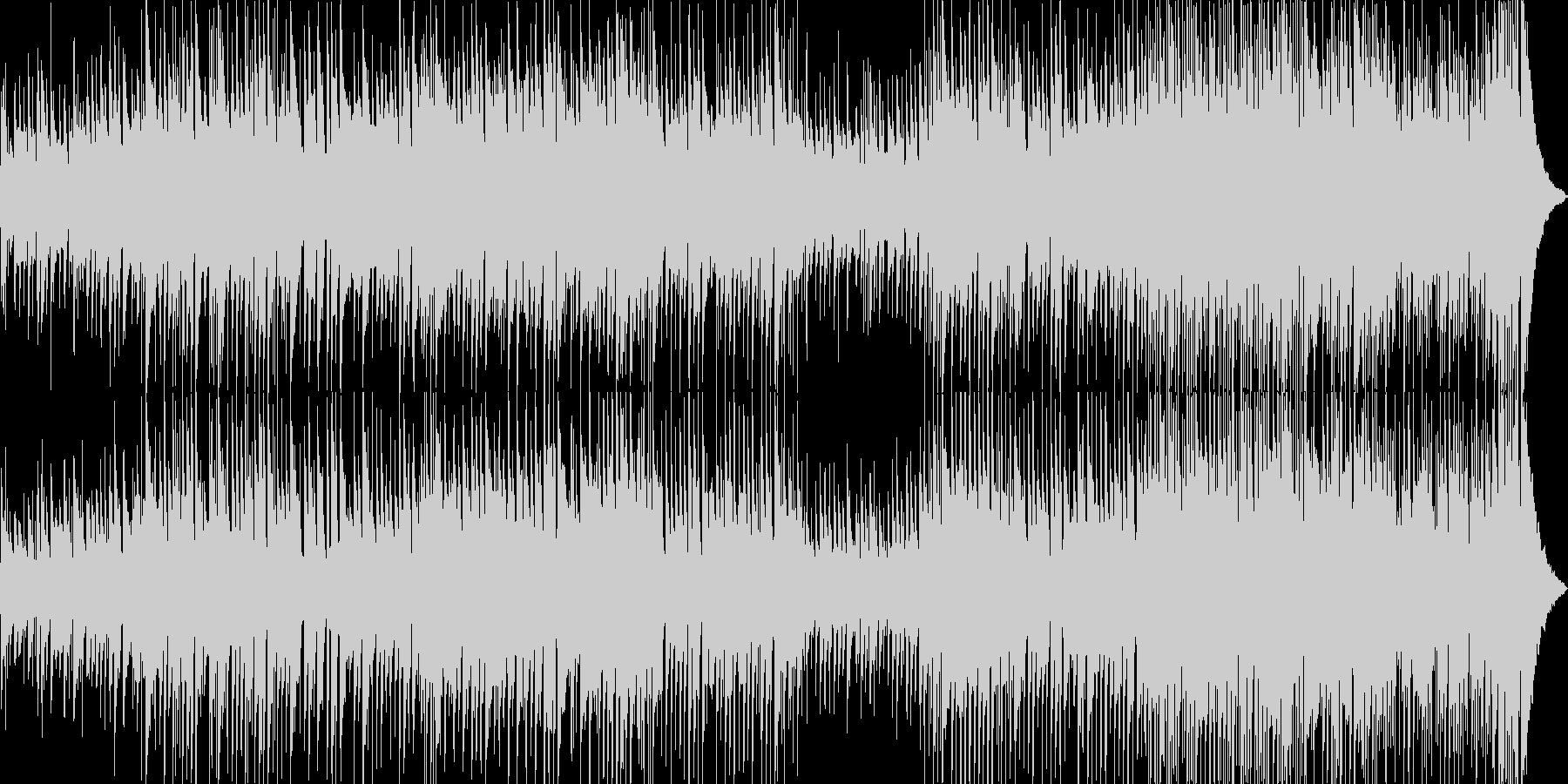 軽快で穏やかなアコースティックポップスの未再生の波形