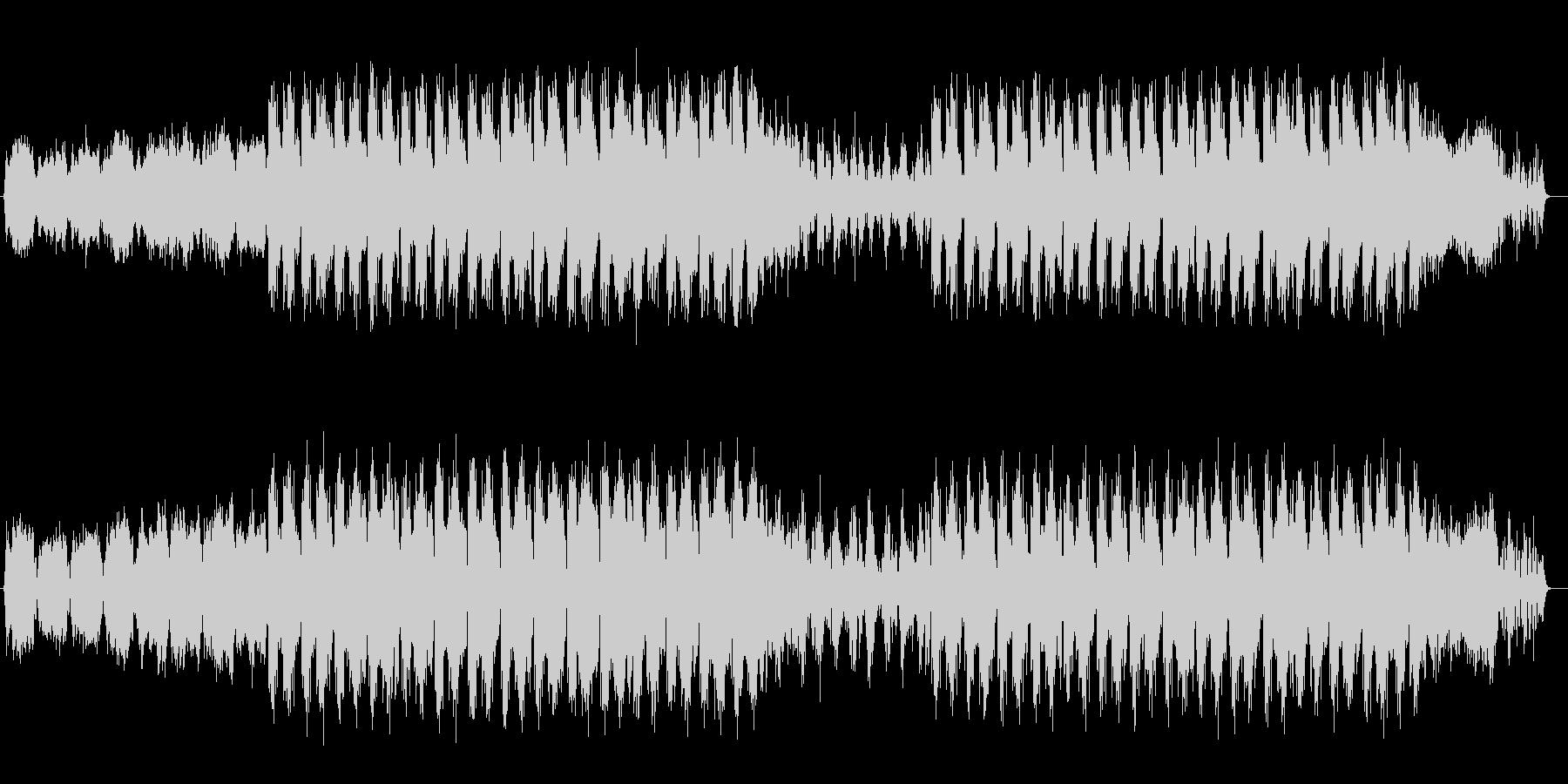シンセサイザーの流れるようなサウンドの未再生の波形