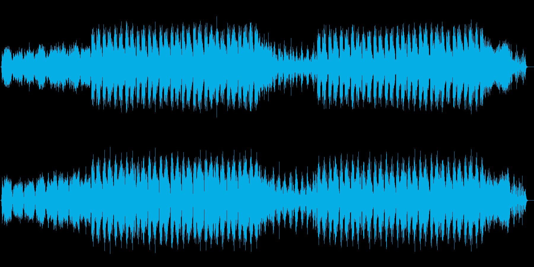 シンセサイザーの流れるようなサウンドの再生済みの波形