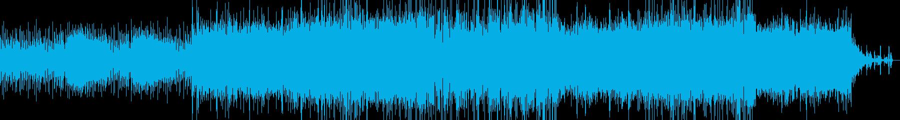 明るめのエレクトロの再生済みの波形