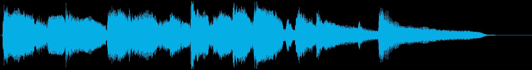 優しく柔らかい日常的なエピローグジングルの再生済みの波形