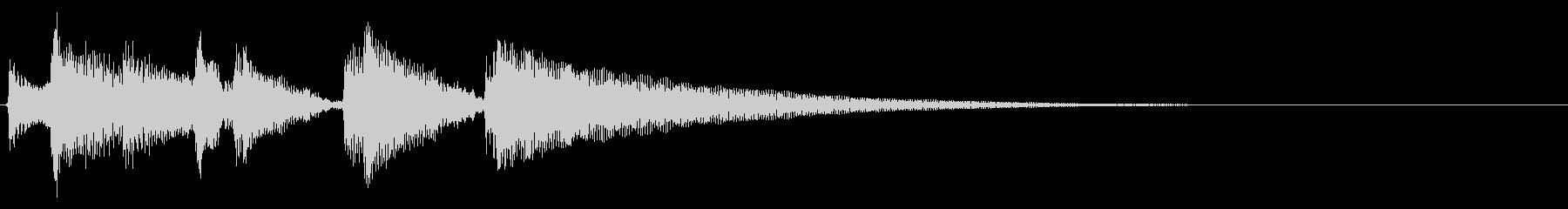 ★アコギ生音のジングル/爽やか6、元気の未再生の波形