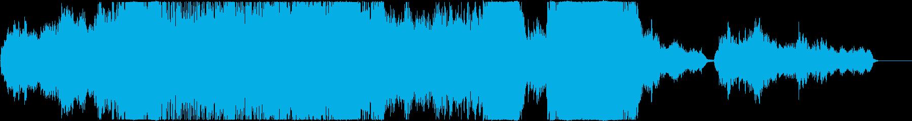感動的でファンタジックなオーケストラ曲の再生済みの波形