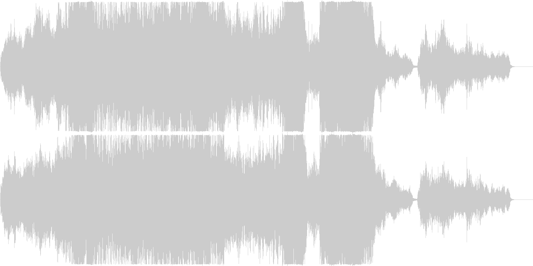 感動的でファンタジックなオーケストラ曲の未再生の波形