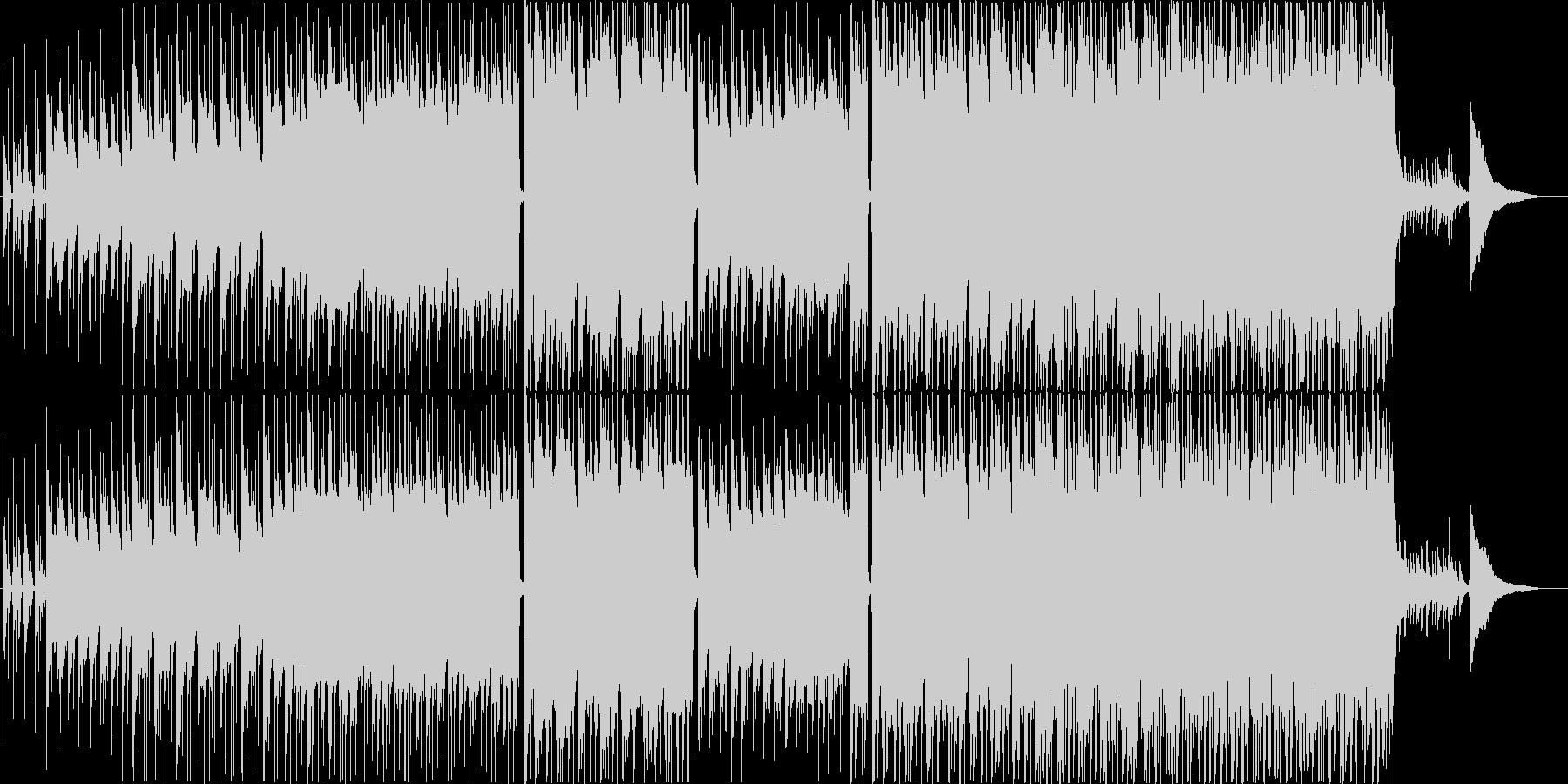 のんびとした爽やかなポップスBGMの未再生の波形