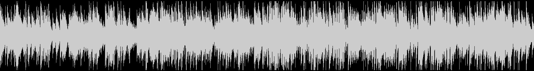 日常系の明るいジャズ、サックス※ループ版の未再生の波形
