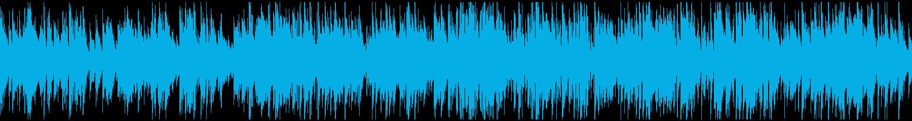 日常系の明るいジャズ、サックス※ループ版の再生済みの波形