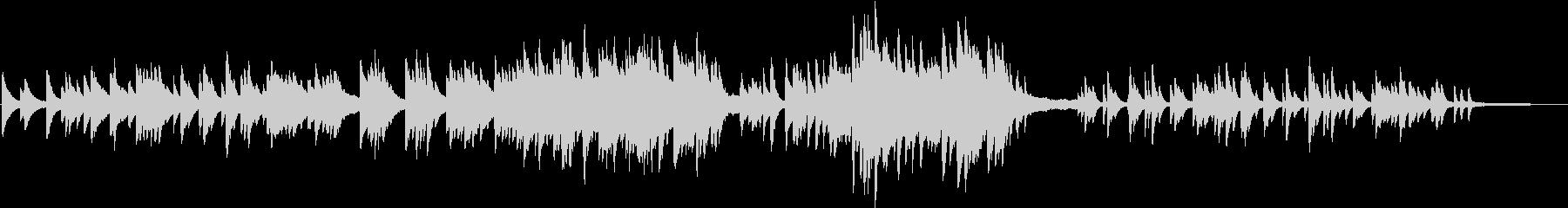 3拍子の少し切ないピアノバラードの未再生の波形