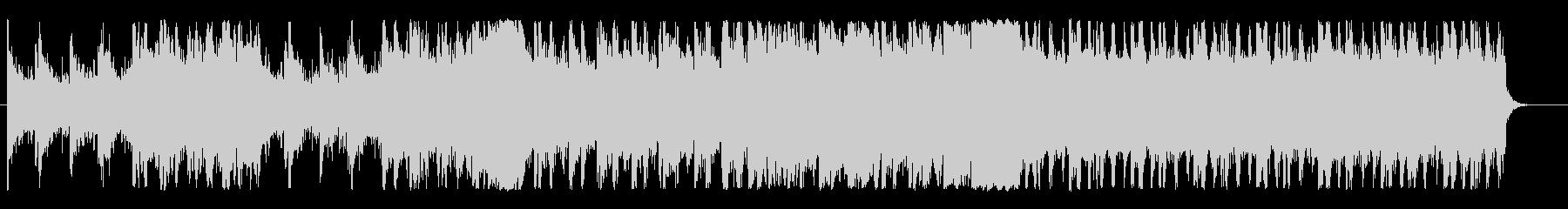 不気味な雰囲気のゲームBGMの未再生の波形