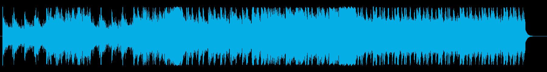 不気味な雰囲気のゲームBGMの再生済みの波形