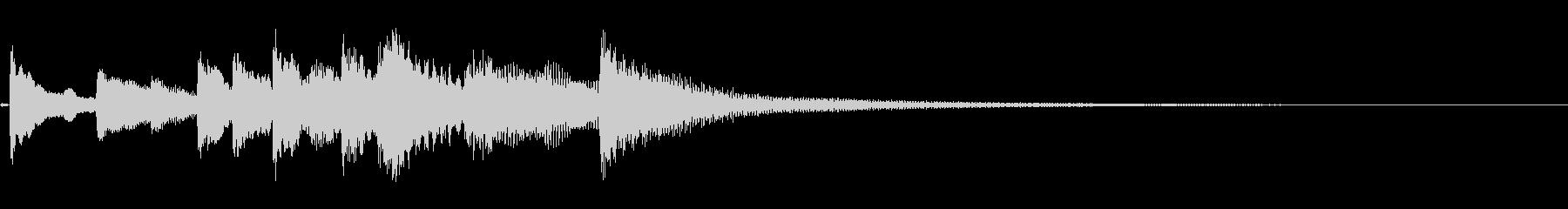 和風 シンプルな琴のジングル6の未再生の波形