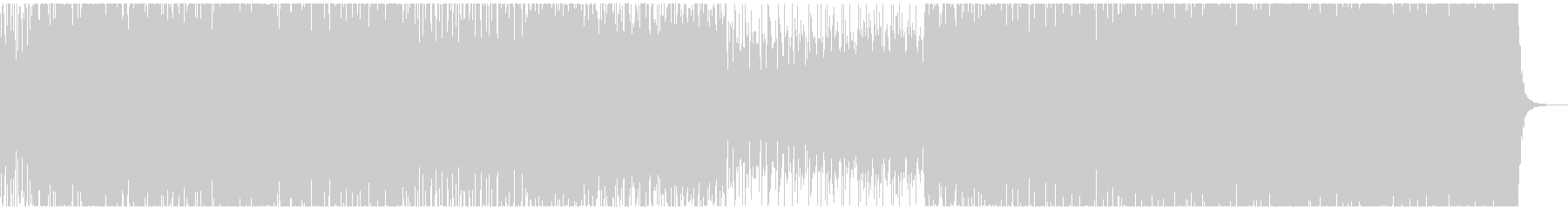 シンセ音メインのクールなミニマルBGMの未再生の波形