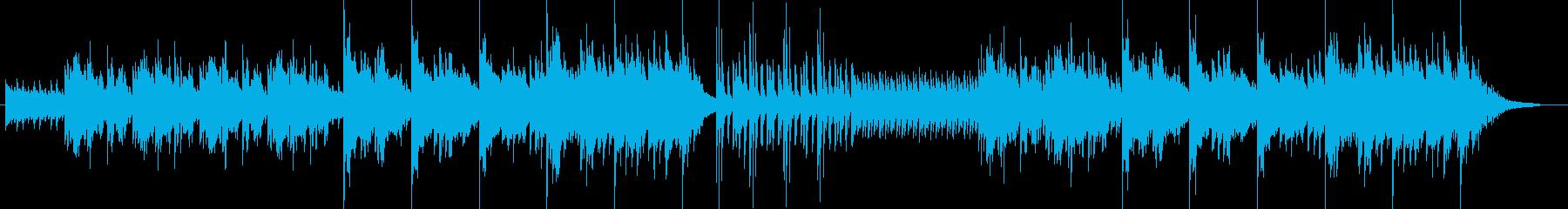 瞑想に、アジアンテイストのゆったりした曲の再生済みの波形