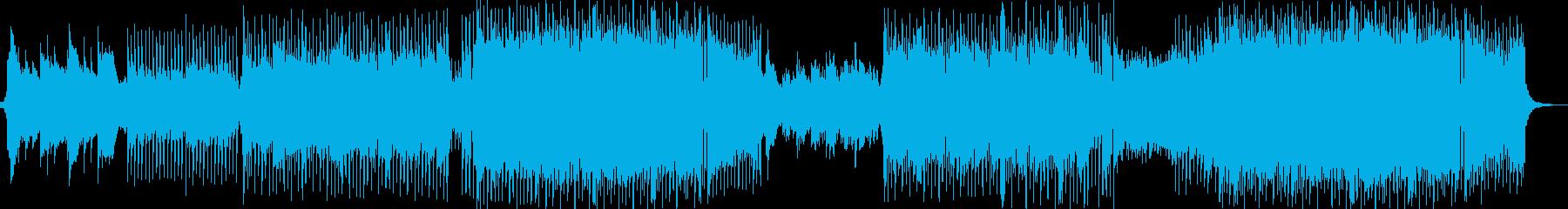 明るくポジティブなバイオリン楽曲の再生済みの波形