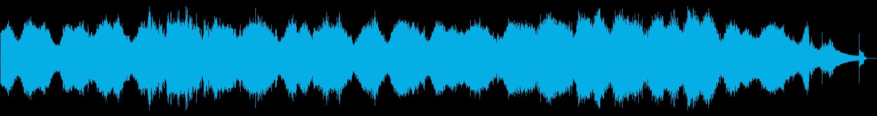 ダークな雰囲気のBGMですの再生済みの波形