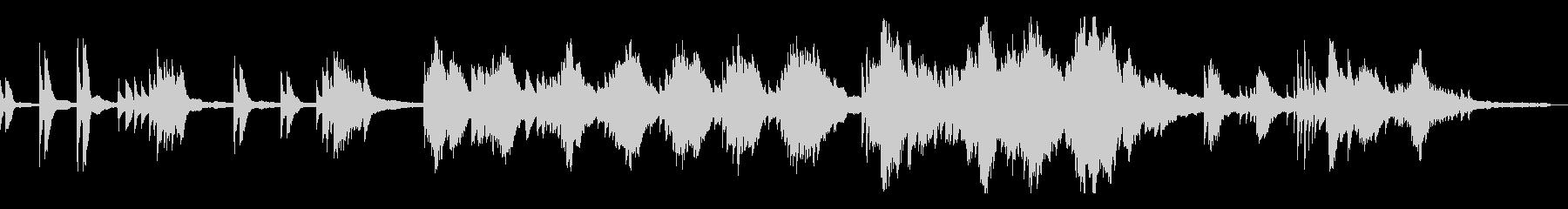 和風のミステリアスな雰囲気9-ピアノソロの未再生の波形