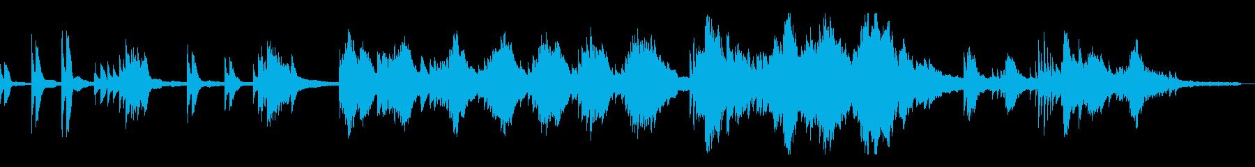 和風のミステリアスな雰囲気9-ピアノソロの再生済みの波形