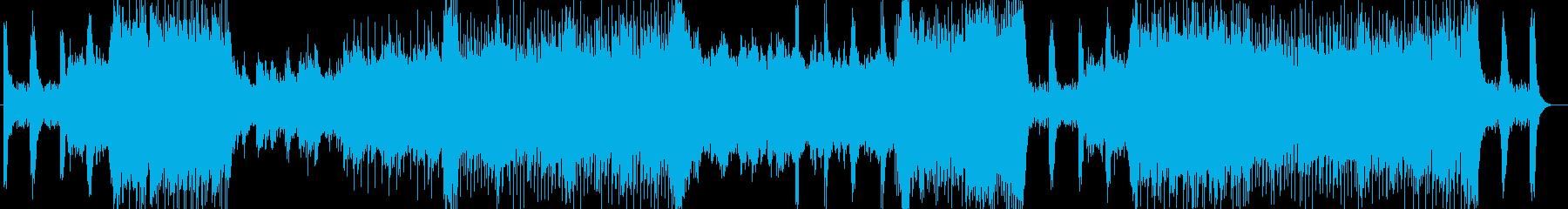 ファンタジックなシンセサイザーサウンドの再生済みの波形